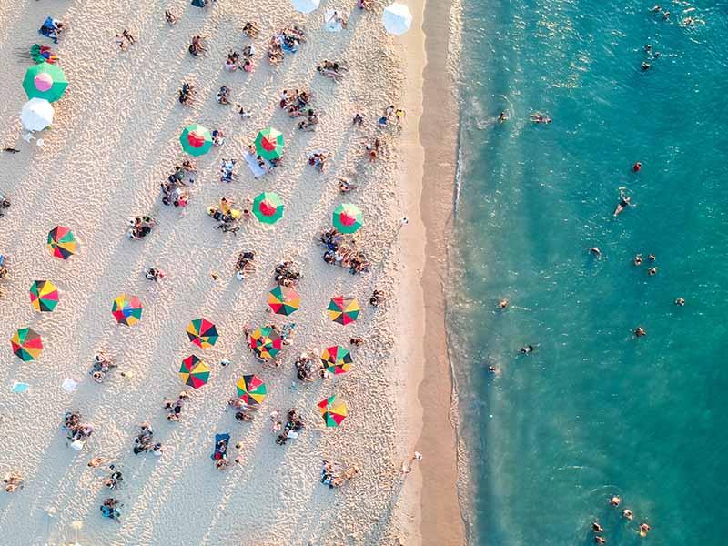 Beach party in Miami