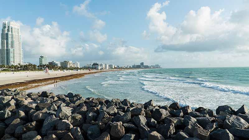 One of the prettiest beach in the world, Miami beach