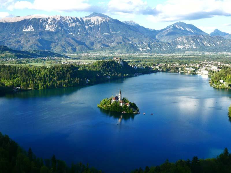 Beautiful lake in slovenia