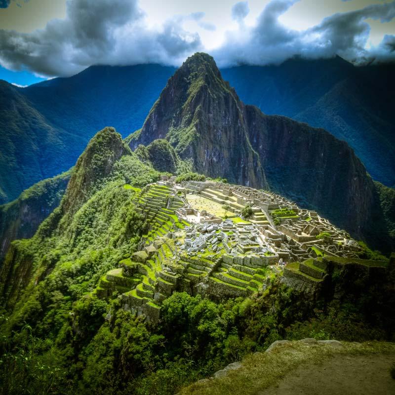 Macha pichu in peru, mountain of the earth