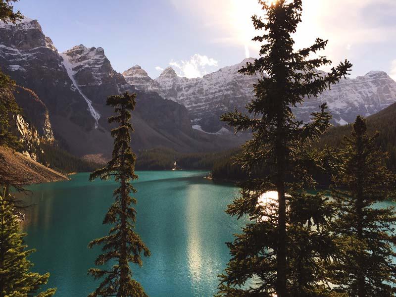 heaven in canada, moraine lake canada